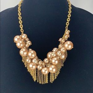 J. Crew Pearl and Chain Statement Necklace
